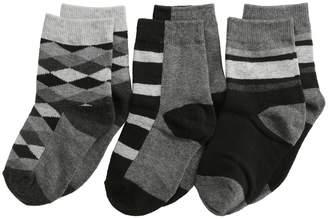 Jefferies Socks Argyle Stripe Crew Socks 3 Pack Boys Shoes