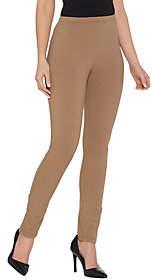 Women with Control Petite Pull-On Slim Leg Pantw/ Side Ruching