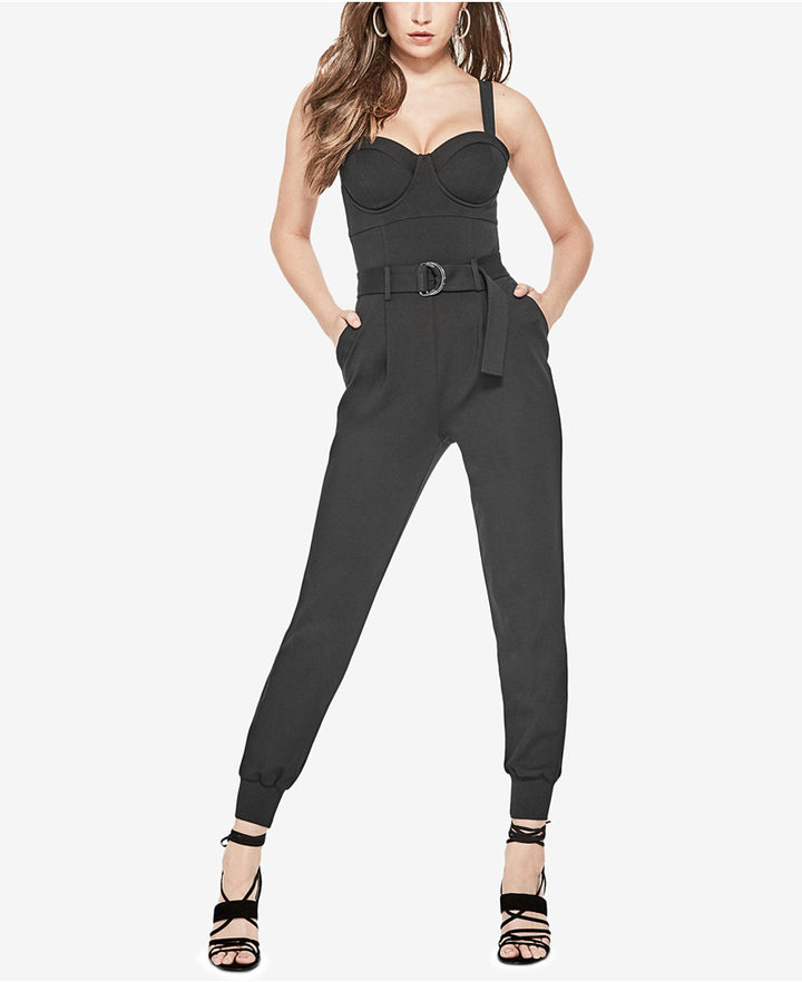 Guess Hendrix Belted Bustier Jumpsuit