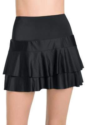 Active Spirit Hustle Bustle Technkini Ruffle Swim Skirt