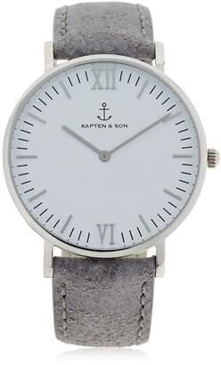 KAPTEN & SON 40mm Vintage Leather Watch