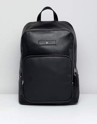 Tommy Hilfiger Corporate Mix Faux Leather Backpack in Black