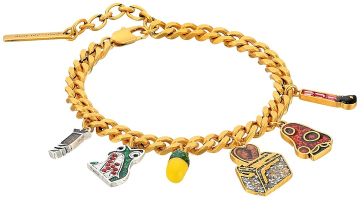 Marc Jacobs Marc Jacobs - Charms Wonderland Toast My Heart Charm Bracelet Charms Bracelet