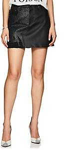 Amiri Women's Leather & Denim Miniskirt - Black