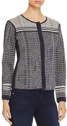 Nic+Zoe Forefront Jacquard Knit Jacket