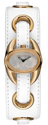Nautica Women's N11000L Ipanema White Leather Watch