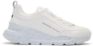 MSGM White Speckled Hiking Sneakers