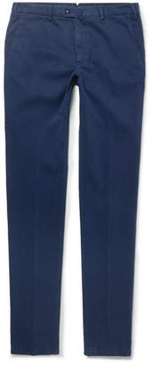 Loro Piana Brushed Stretch-Cotton Chinos - Men - Blue