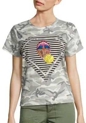 Marc Jacobs Marc Jacobs Julie Mouth Camo Tee