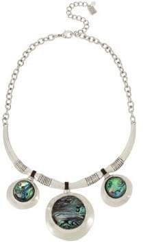 Robert Lee Morris Collection Abalone Disc Drop Necklace