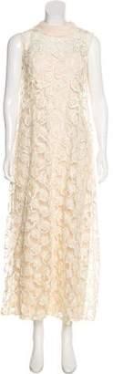 Lanvin Floral Lace Dress
