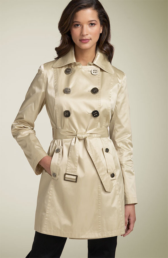 Gallery 'Gloss' Satin Trench