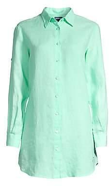 Vilebrequin Women's Fragance Linen Button-Down Shirt