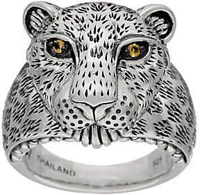 JAI Sterling Silver Figural Leopard Ring