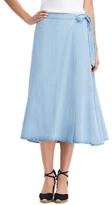 Chaps A-Line Midi Skirt