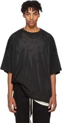 Fear Of God Black Mesh Oversized T-Shirt