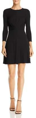 Aqua Gathered Rib-Knit Fit-and-Flare Dress - 100% Exclusive
