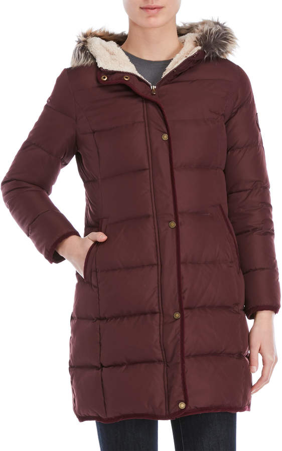 Lauren Ralph Lauren Petite Faux Fur Trim Hooded Jacket