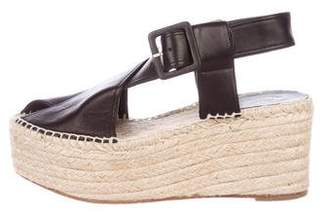 Celine Leather Platform Espadrilles