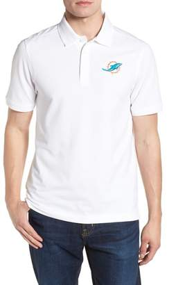 Cutter & Buck Miami Dolphins - Advantage Regular Fit DryTec Polo