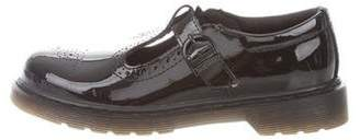Dr. Martens Patent Leather Round-Toe Oxfords
