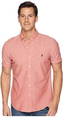 Polo Ralph Lauren Chambray Short Sleeve Sport Shirt Men's Clothing
