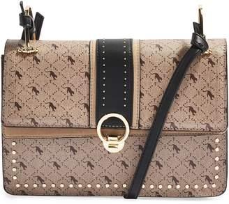 Topshop Madrid Studded Faux Leather Shoulder Bag