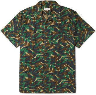 J.Crew Camp-Collar Printed Cotton-Ripstop Shirt - Men - Green
