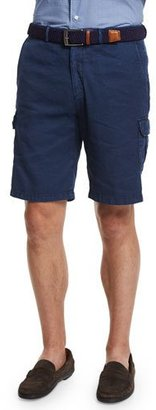 Peter Millar Garment-Dyed Cargo Shorts, Navy $158 thestylecure.com
