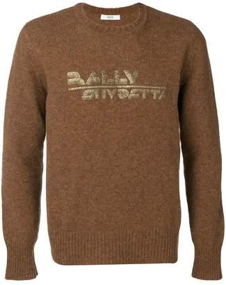 Bally printed logo knit sweater