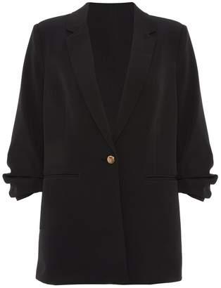 Quiz Black 3/4 Button Suit Jacket