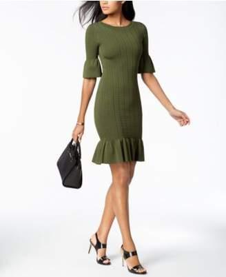 Michael Kors MICHAEL Textured Flared Sweater Dress