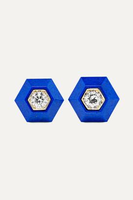 Lapis Fred Leighton - Collection 18-karat White Gold, Lazuli And Diamond Earrings