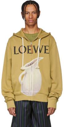 Loewe Beige Logo Pottery Hoodie