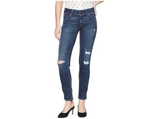 Hudson Collin Mid-Rise Skinny in Spellbound Destructed Women's Jeans
