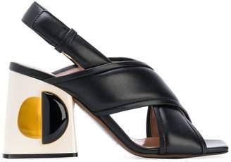Marni structural block heeled sandals
