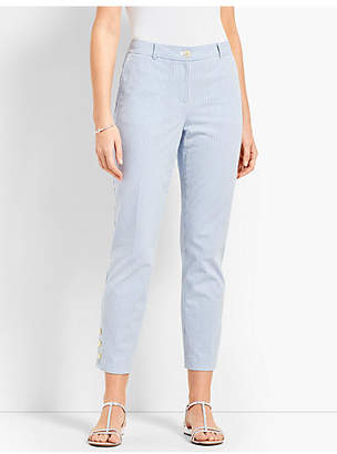 Talbots Seersucker Crop Suit Pant