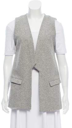 Waverly Grey Wool Long Vest