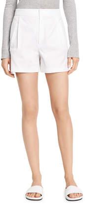 Vince High-Waist Pleated Shorts