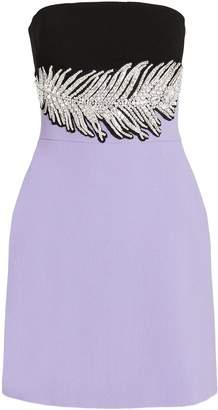 David Koma Embellished Two-Tone Mini Dress