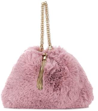 Jimmy Choo Callie faux fur clutch