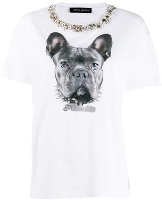 Frankie Morello dog print T-shirt
