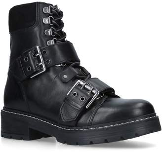 Carvela Leather Saunter Combat Boots