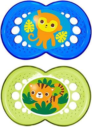 Mam Crystal Orthodontic Silicone Pacifiers 6+M Boy