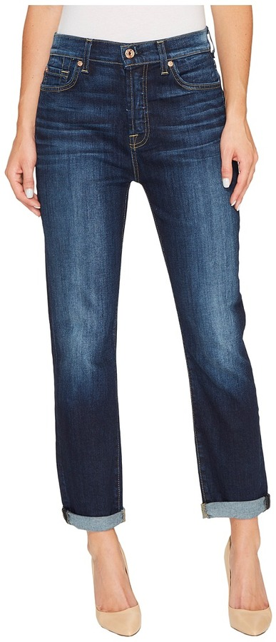 7 For All Mankind - High Waist Josefina without Squiggle in Aggressive Madison Ave Women's Jeans