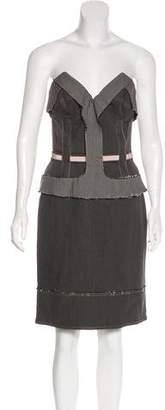 Stella McCartney Denim Strapless Dress