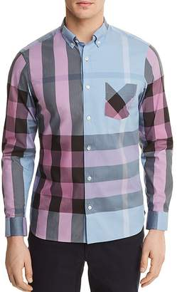 Burberry Thornaby Plaid Regular Fit Button-Down Shirt