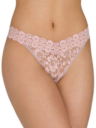 Hanky Panky Floral Cross-Dyed Original-Rise Lace Thong, One Size