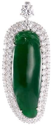 LC Collection Jade Diamond jade 18k white gold pendant