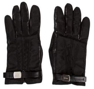 Prada Lambskin Logo Gloves
